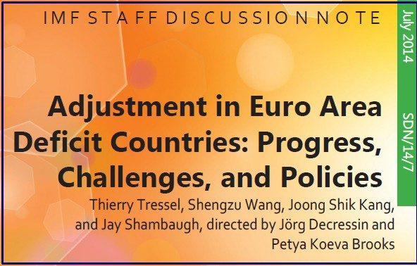 IMF EUROZONA CURRENT ACCOUNT IMBALANCES COVER