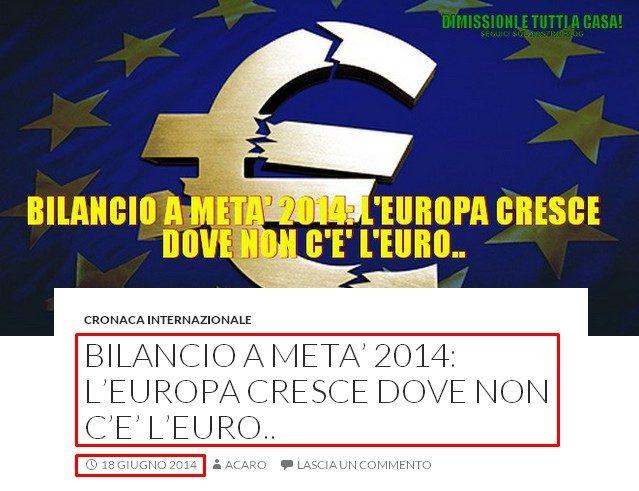 crescita dove non ce euro
