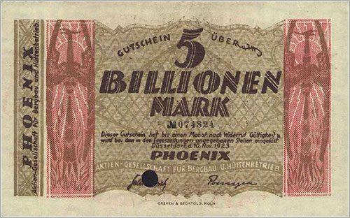 Risultati immagini per repubblica di weimar inflazione