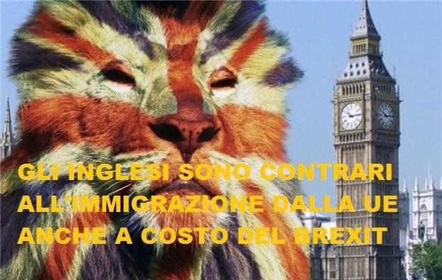 Gli Inglesi non vogliono gli immigrati (anche a costo del Brexit).