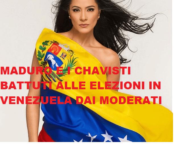SCONFITTA SONORA PER I SOCIALISTI BOLIVARIANI DI MADURO