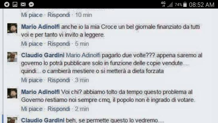 ADINOLFI (PD): MAI PIU' ELEZIONI, PD AL GOVERNO PER SEMPRE (il tweet rivelatore… sarà un FAKE?)