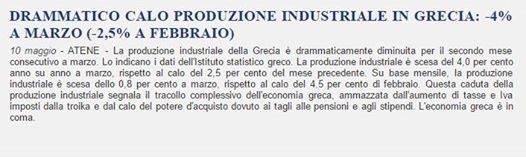 GRECIA produzione industriale
