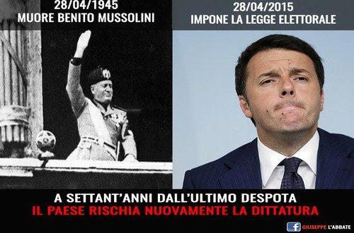 """ITALICUM: UNA """"LEGGE ACERBO 2.0″… il rapporto tra la legge fascista e quella renziana (di Giuseppe PALMA)"""