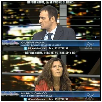 #RiformaCostituzionale #ReferendumCostituzionale il FACCIA a FACCIA tra la prof.ssa Marilisa D'AMICO (per il SI) e l'avv. Giuseppe PALMA (per il NO)