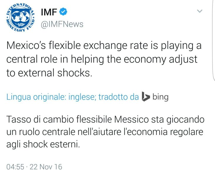 FMI ANNUNCIA AL MONDO L'UTILITA' DEI CAMBI FLESSIBILI