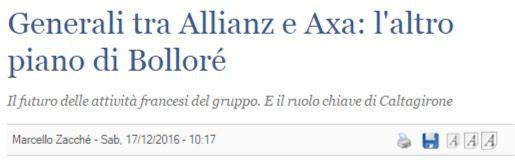 Come i francesi vogliono spartirsi l'Italia, facendola a pezzi: i casi Generali e Leonardo/Finmeccanica, i cui AD oggi sembrano fare a gara per indebolirle