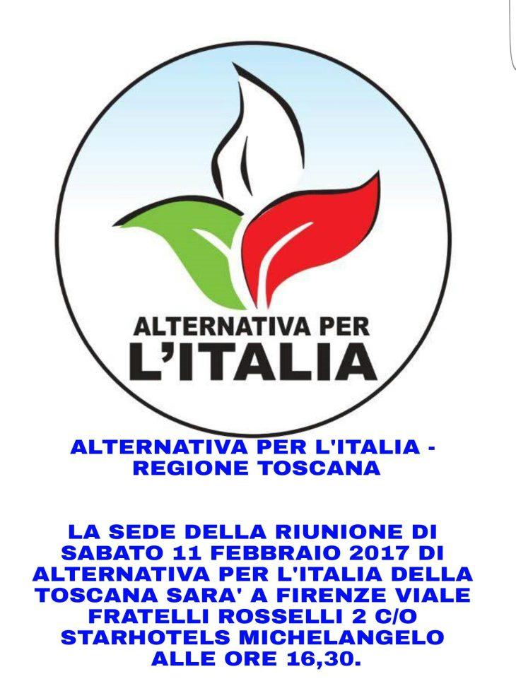 ALTERNATIVA PER L'ITALIA REGIONE TOSCANA