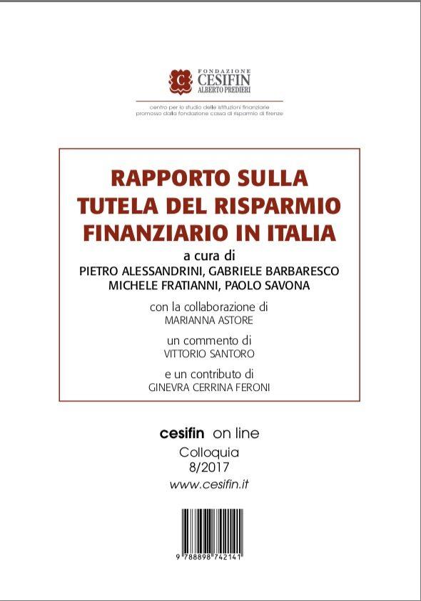 LINEAMENTI DI UNA RIFORMA CHE TUTELI IL RISPARMIO IN ITALIA  (di Paolo Savona)
