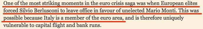 FINANCIAL TIMES, EURO E BERLUSCONI