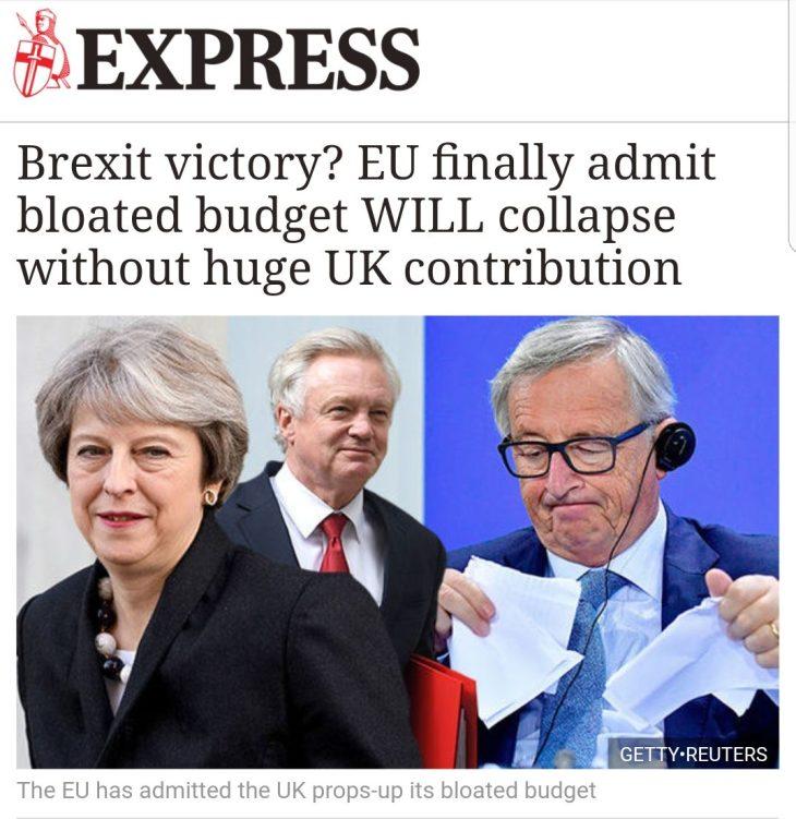 LA BREXIT MASSACRA I CONTI UE