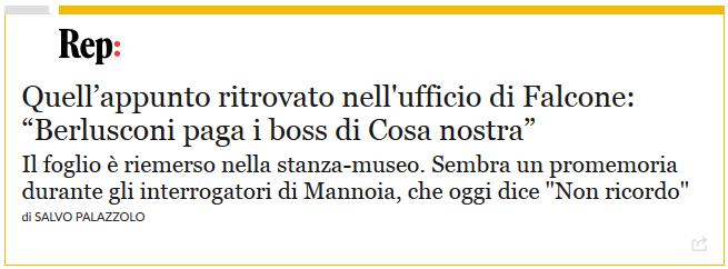 """Il PD, che fino a poco tempo fa voleva governare con Berlusconi, ora che sprofonda nei sondaggi resuscita gli attacchi """"da museo"""" al Cavaliere. Da vergognarsi di essere italiani"""