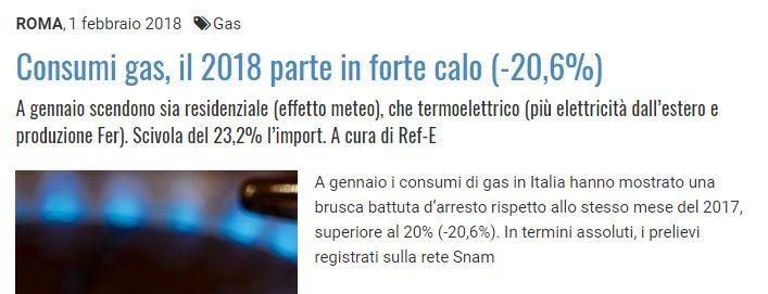 Perchè nessuno vi dice che a fine 2018 l'Italia sarà in recessione (con un dollaro così debole)? A gennaio consumi di gas a -21%! Enormi tasse in vista per gli italiani…