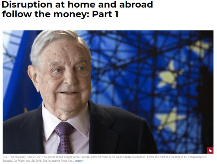 Washington Times – vicino a Trump – lancia campagna durissima contro il miliardario George Soros