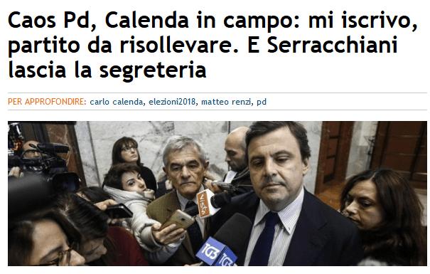 Evviva, Calenda si propone come successore di Renzi: un altro ricco elitista tutt'altro che di sinistra a capo dell'erede del PCI (sulla pelle degli operai). Se siamo fortunati in 5 anni il PD si estingue