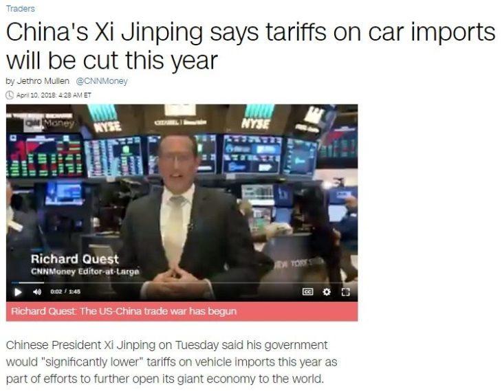 Breaking: la buona notizia che i media italiani opportunamente tacciono, la Cina di Xi cede agli USA e taglia le tariffe (ossia Trump aveva ragione!)