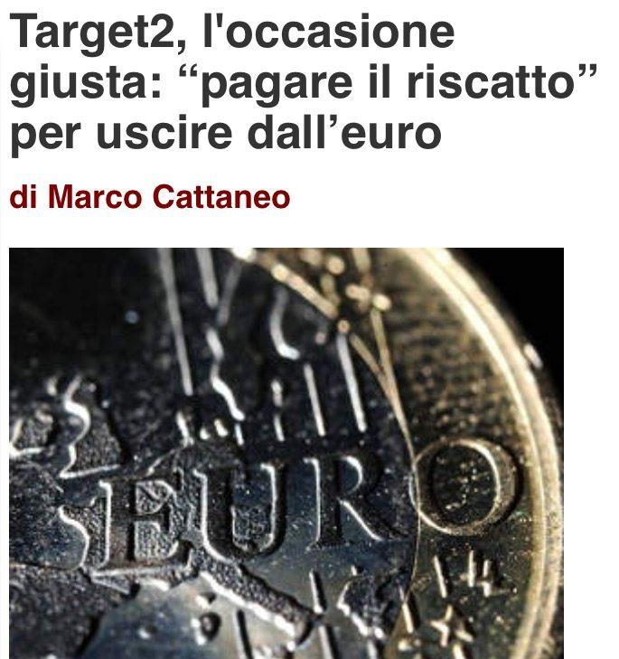 La previsione: dopo orde di immigrati e tasse folli l'EU francotedesca chiederà all'Italia o di pagare il Target 2 o di fare una megapatrimoniale