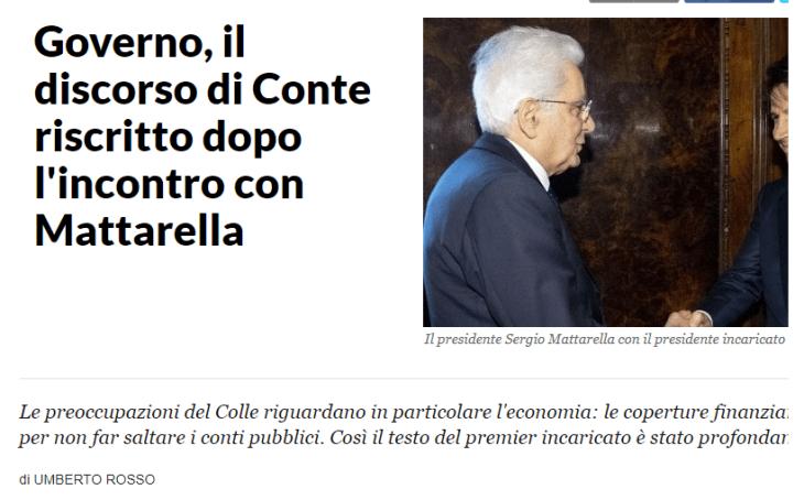 UN INTERESSANTE PICCOLO SCONTRO QUIRINALE – BYOBLU METTE IN LUCE IL MARCIO INFORMATIVO ITALIANO. (Spegnete la TV e seguite Byoblu)