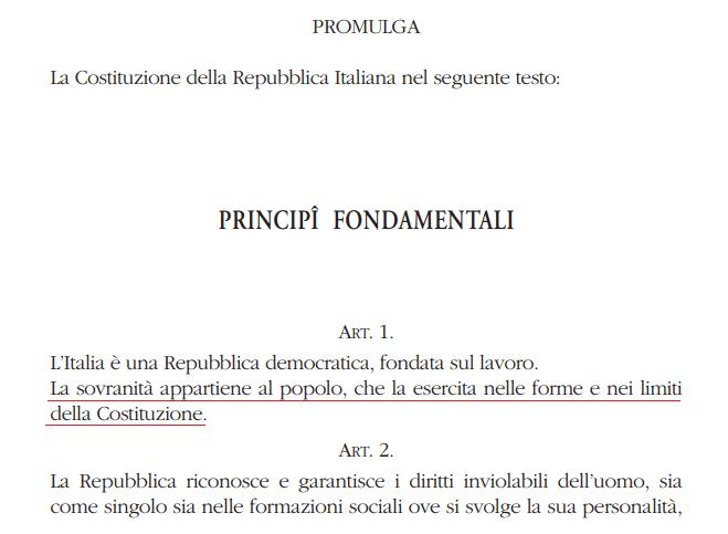 RIOTTA, IL PROFESSORE CHE IGNORA L'ARTICOLO UNO DELLA COSTITUZIONE ITALIANA.