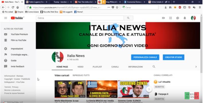 Fabio Lugano su Italia news di Paride Lupo
