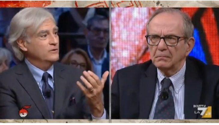 Rinaldi Vs Paodan a La 7. Deficit, pace fiscale, vitalizi.
