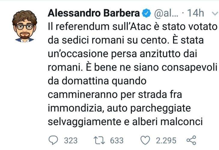 ALESSANDRO BARBERA E LA MULTINAZIONALE ATAC DI ROMA