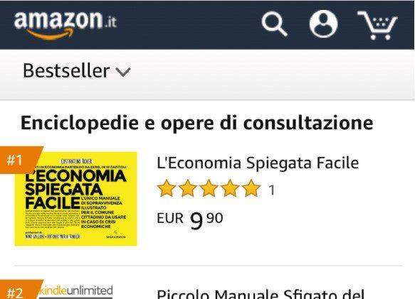 Il libro di economia spiegata facile è già stato best seller su Amazon