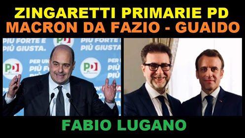 Italia News: Primarie PD, Guaidò ed intervista a Macron