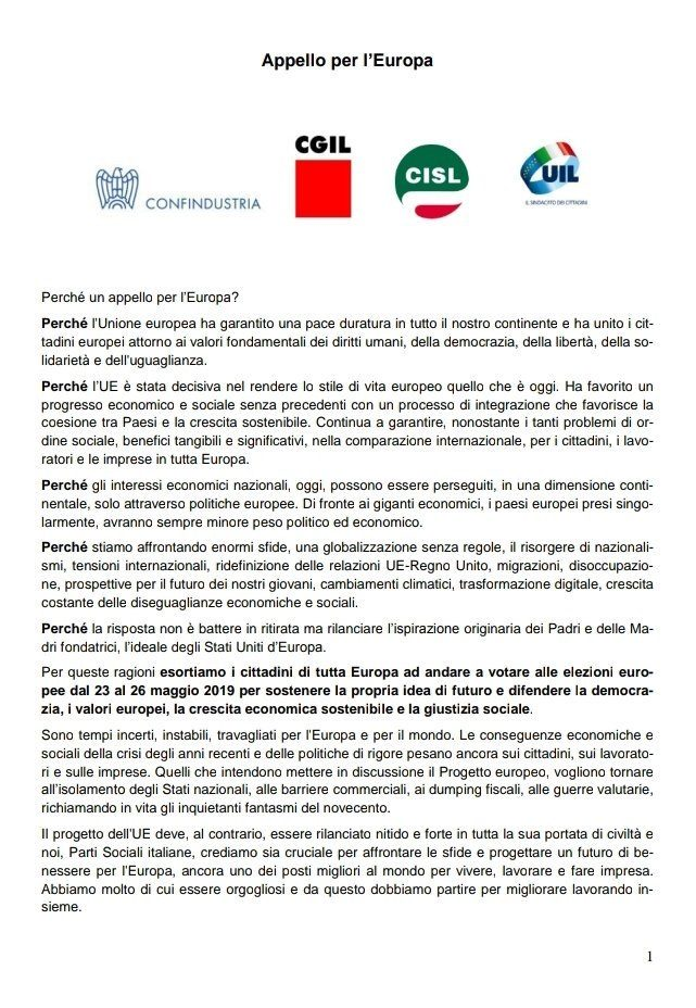 """LE """"PARTI SOCIALI"""": TUTTE UNITE CONTRO GLI ITALIANI"""