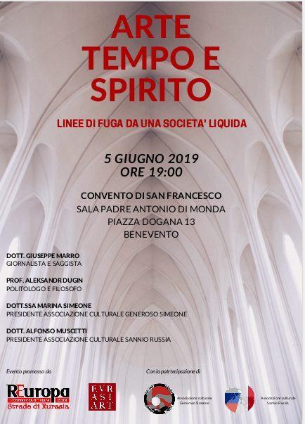 Alexsandr DUGIN a Benevento mercoledì 5 giugno alle ore 19 presso il Convento San Francesco in Piazza Dogana.