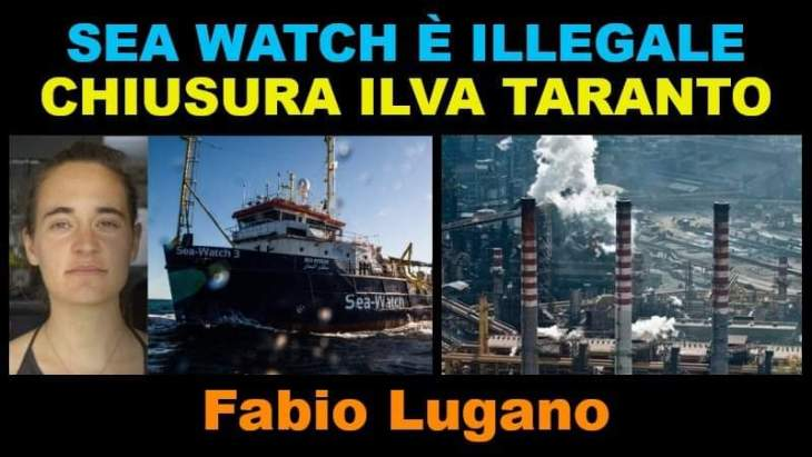SEA WATCH E ILVA: INTERVISTA DI ITALIA NEWS A FABIO LUGANO