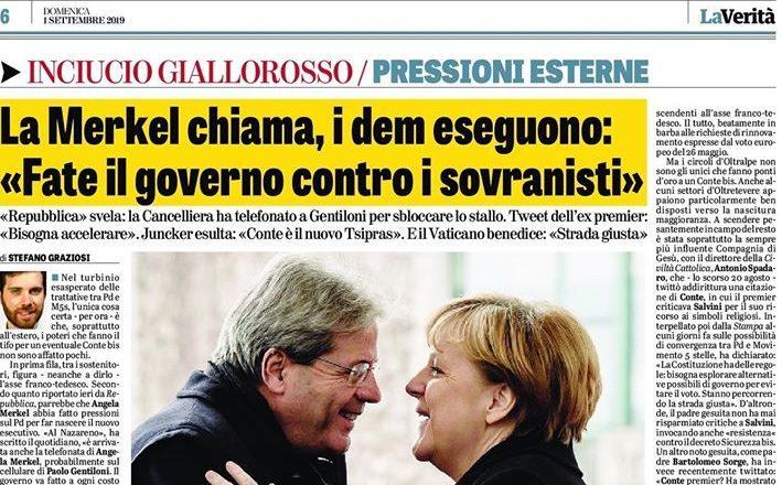 IL GOVERNO DI TUTTI, TRANNE CHE DEGLI ITALIANI