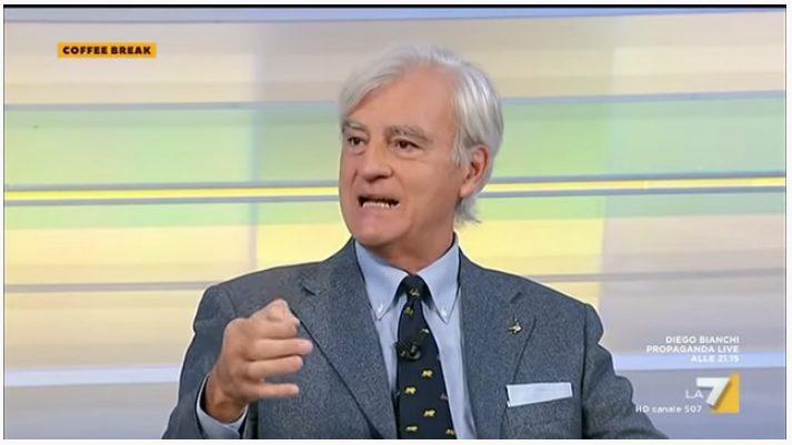 RINALDI SCATENATO A LA 7:  Trump e l'Italia, le drammatiche decisioni del 1992, l'unica Flat Tax è stata fatta da Gentiloni per i super-ricchi. Vongole