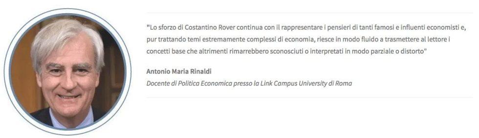 Antonio Maria Rinaldi, prefazione al libro di economia spiegata facile
