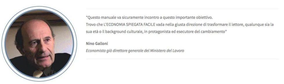 Nino Galloni, prefazione al libro di economia spiegata facile