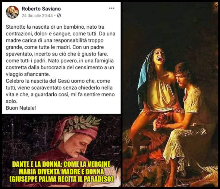 A Saviano rispondo con Dante. La Madonna nella Divina Commedia, donna e madre (di Giuseppe PALMA – Video)