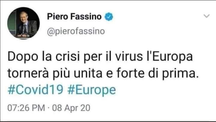 FASSINO DA L'ESTREMA UNZIONE ALLA UE