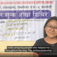 Pema Sherpa '19: Geneseo's Ambassador Provided Eye Care to Children in Nepal