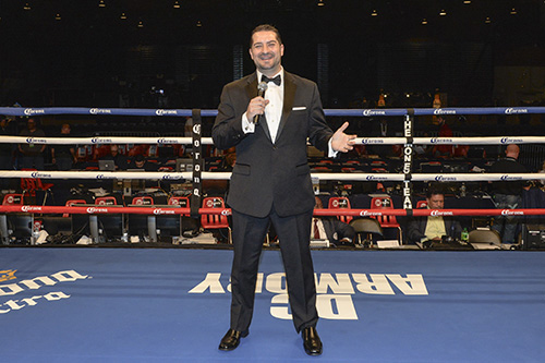 Mark Fratto standing in the ring at Showtime Boxing