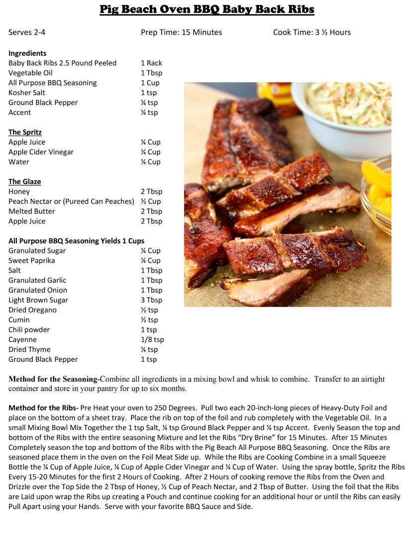Recipe for oven barbeque ribs