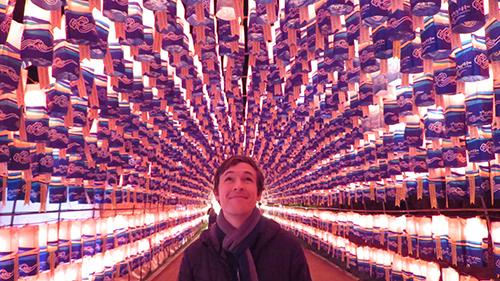 Matt McClure '16 at a lantern festival.