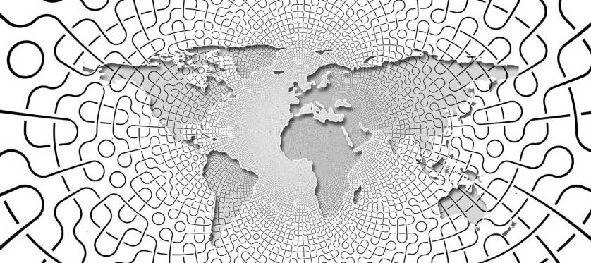 Black and White map