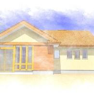 K様邸新築工事 概要:平屋建て  25坪 (完成)
