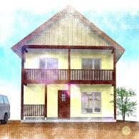 N様邸新築工事 概要:二階建て  32坪  FEEL-J (完成)