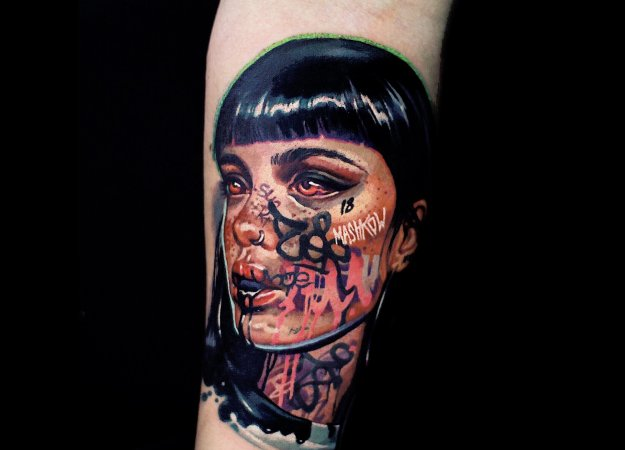 mashkow-06 Graffiti Bombed Faces: Tattoos by Mashkow entertainment