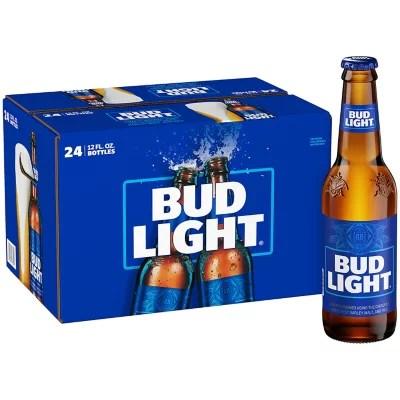bud light beer 12 fl oz bottle 24 pk