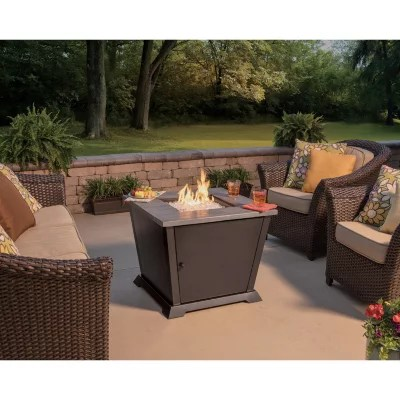 member s mark 30 square gas outdoor fire pit table by blue rhino