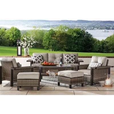 member s mark agio manchester 6 piece patio deep seating set with sunbrella fabric