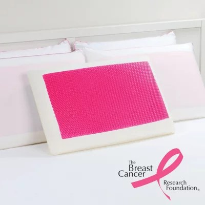 dreamfinity cooling gel and memory foam pillow pink