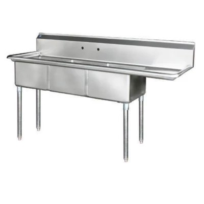 3 compartment sink stainless steel variations